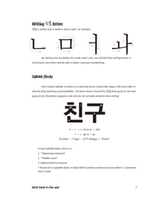 An excerpt from the TTMIK textbook - learning to write Hangul.